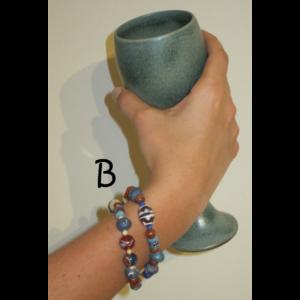 B double-stranded bracelet