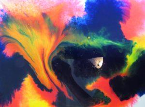 Rubbing Alcohol on Watercolour | Chris Marin, Artist