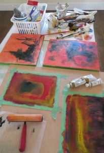 painting four at once