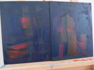 transparent paints over black