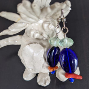 sterling silver vintage and contemporary glass coral