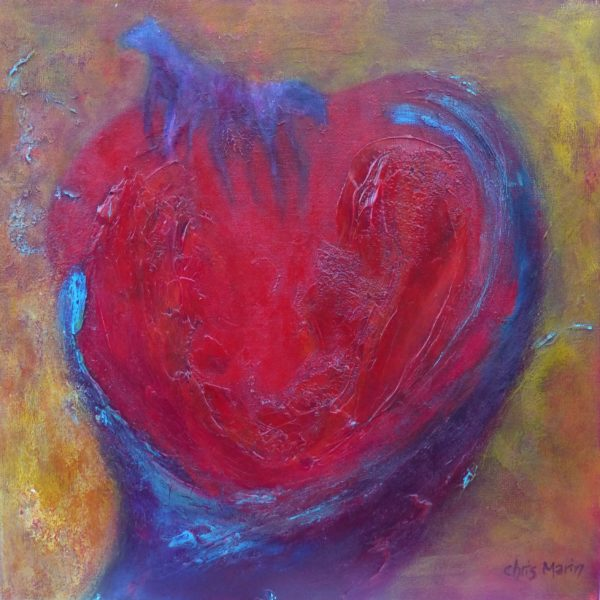 Hand, Heart and Soul Painting by Chris Marin